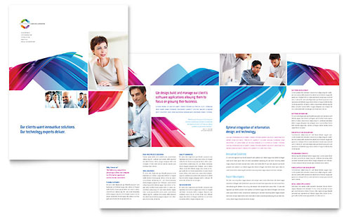 Software Solutions Brochure Template