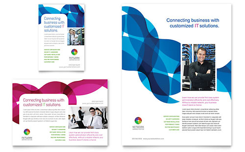 Network Administration Flyer & Ad Template