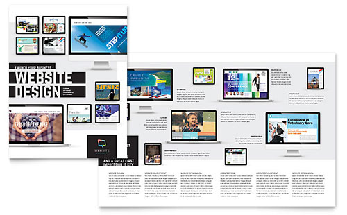 Website Designer Print Design Brochure Template