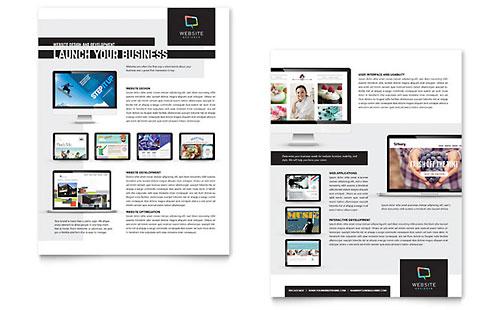 Website Designer Sales Sheet Template