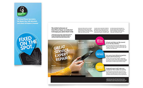 Smartphone Repair Print Design Brochure Template