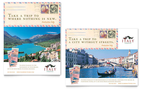 Italy Travel Poster Template