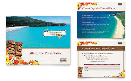 Hawaii Travel Vacation PowerPoint Presentation Template