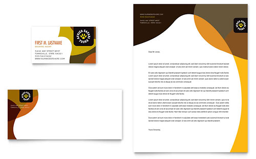 African Safari Business Card & Letterhead Template
