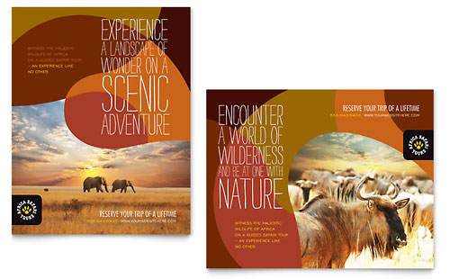 African Safari Poster Template