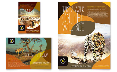 African Safari Flyer & Ad Template