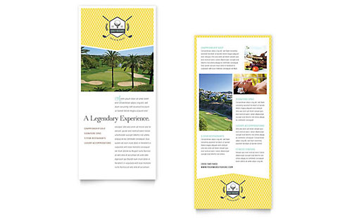 Golf Resort - Rack Card Template
