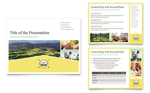 Golf Resort PowerPoint Presentation Template