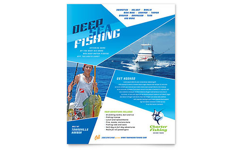 Fishing Charter & Guide Flyer Template