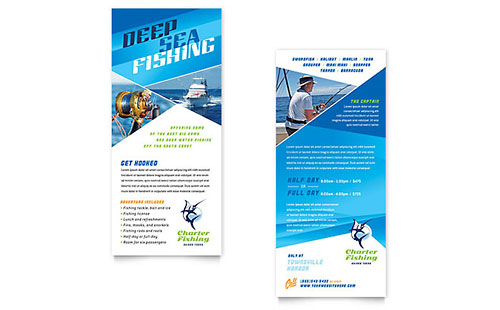Fishing Charter & Guide - Sample Rack Card Template