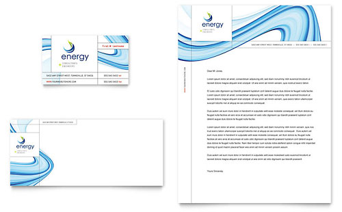 Renewable Energy Consulting Business Card & Letterhead Template