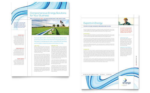 Renewable Energy Consulting Datasheet Template