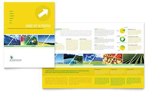 Environmental Conservation Brochure Template
