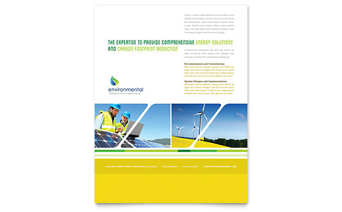 Environmental Conservation Flyer Template