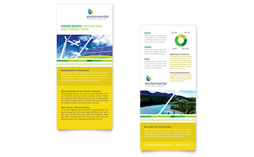 Environmental Conservation Rack Card Template