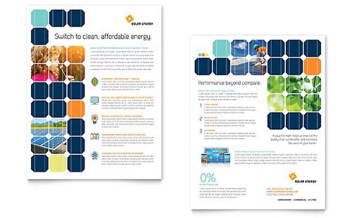 Solar Energy Datasheet Template