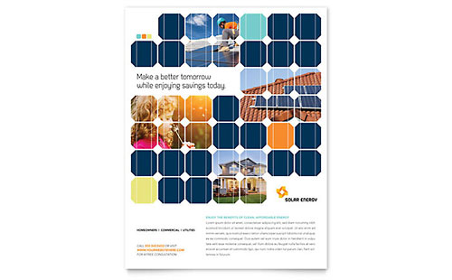 Solar Energy Flyer Template