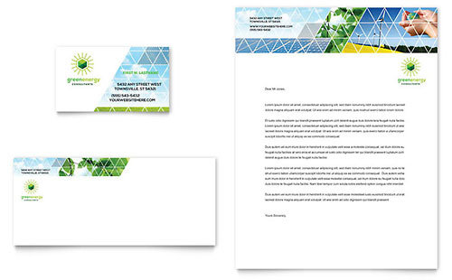 Green Energy Consultant Business Card Template