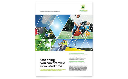 Green Energy Consultant Flyer Template