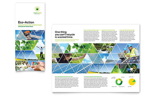 Green Energy Consultant Tri Fold Brochure Template