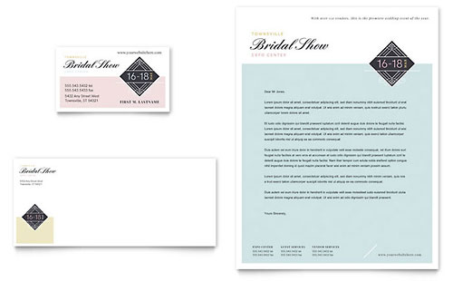 Bridal Show Business Card & Letterhead Template Design