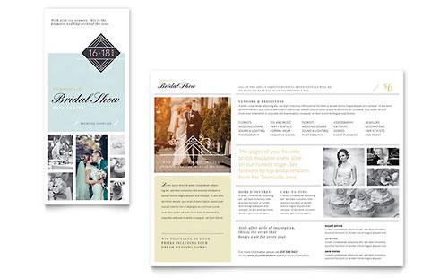 Bridal Show Tri Fold Brochure Template