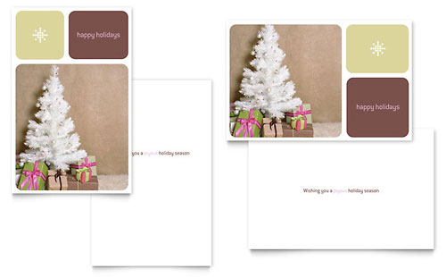 indesign christmas card template