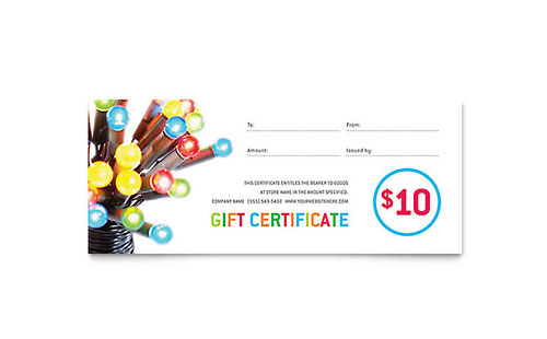 Christmas Lights Gift Certificate Template