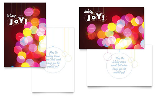 Holiday Lights Greeting Card Template