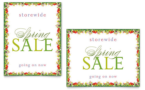 Spring Poster Templates – Microsoft Publisher Christmas Templates