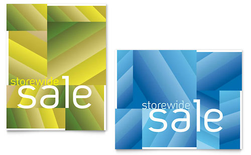 Storewide Clearance Sale Poster Template