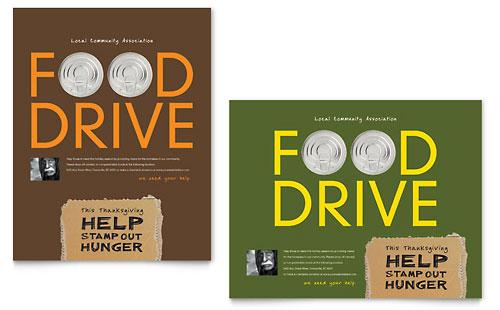 Food Bank Ad Designs Charity