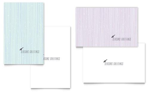 Snow Bird Greeting Card Template