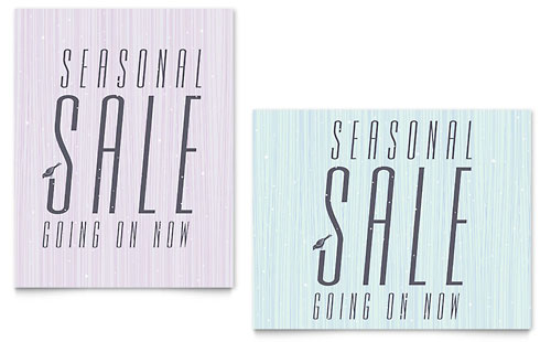 Snow Bird Sale Poster Template