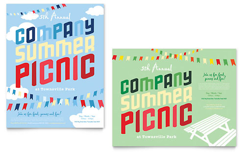 Company Summer Picnic Poster Template