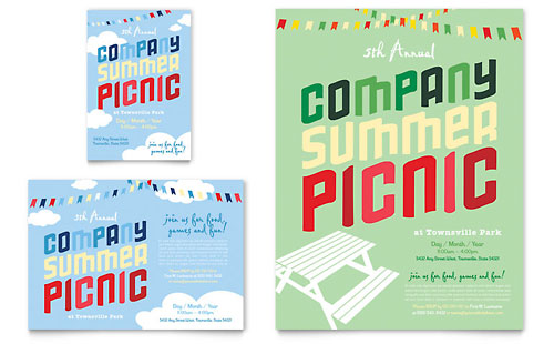 Company Summer Picnic Flyer & Ad Template