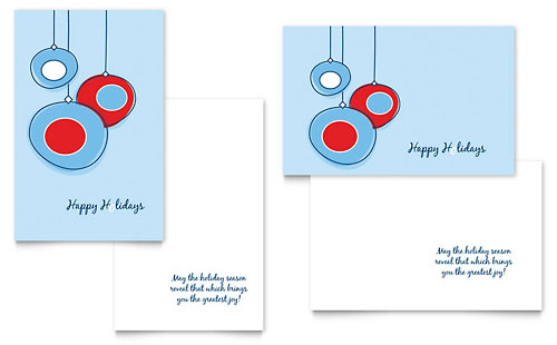 Greeting Card Templates InDesign Illustrator Publisher – Birthday Card Layout