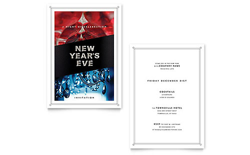 New Year's Eve Invitation Template