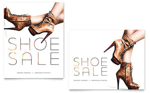 Designer Shoes Sale Poster Template