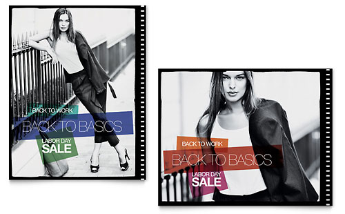 Labor Day Fashion Sale Poster Template