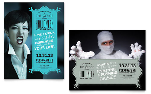 Halloween Costume Party Poster Template