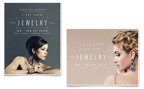 Fine Jewelry - Sale Poster Template
