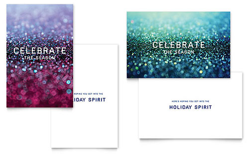 Glittering Celebration Greeting Card Template