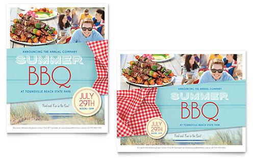 Summer BBQ Poster Template