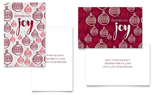Joy Greeting Card Template