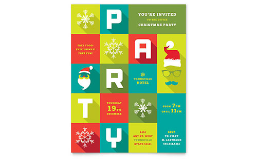 Work Christmas Party - Flyer Template