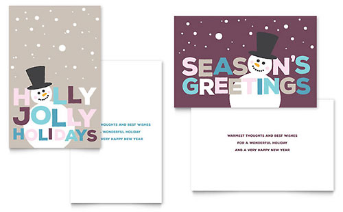 Jolly Holidays Greeting Card Template Design