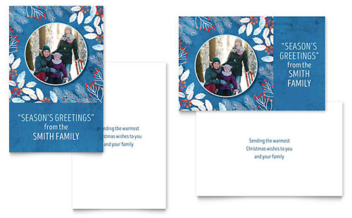 Family Portrait Greeting Card Template