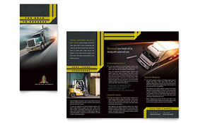 Trucking & Transport - Pamphlet Template