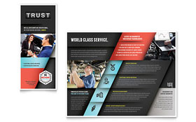 Auto Mechanic - Microsoft Word Brochure Template